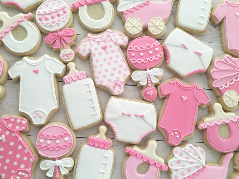 Baby Shower Sugar Cookies  Baby Shower Decorated Cookies Sugar Cookies