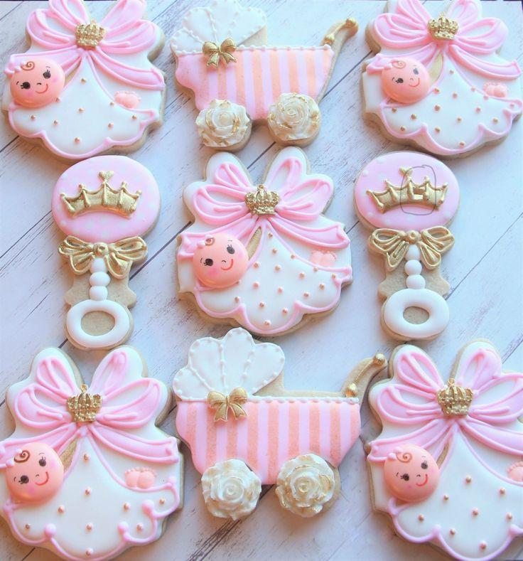 Baby Shower Sugar Cookies  2729 best Cookies images on Pinterest