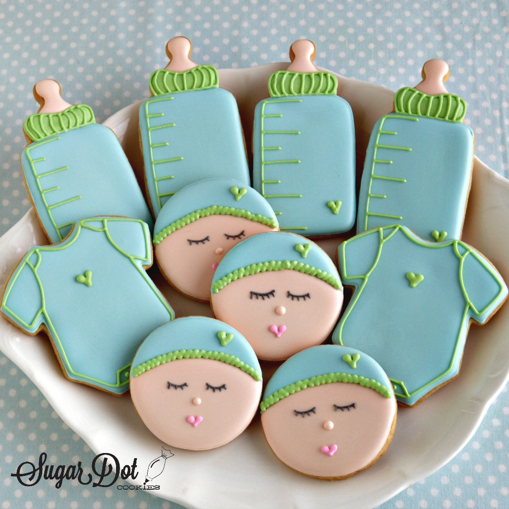 Baby Shower Sugar Cookies  Cookies are available for order through my website