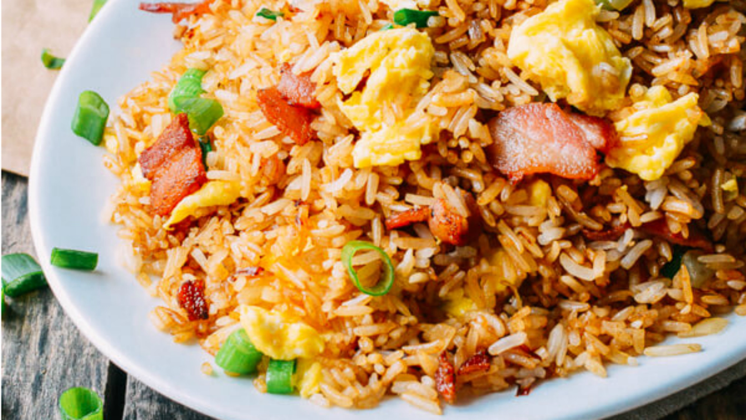 Bacon Fried Rice  Takeout recipes at home Make bacon and egg fried rice