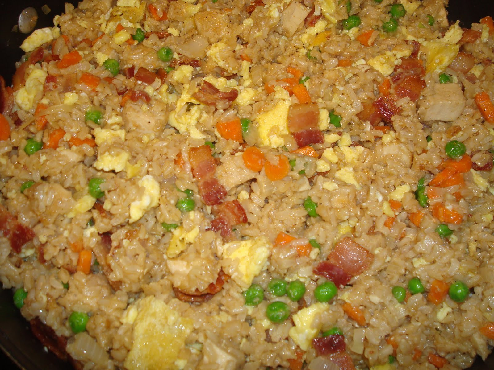 Bacon Fried Rice  menu managed Chicken and Bacon Fried Rice