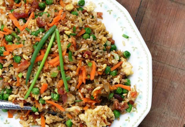 Bacon Fried Rice  Bacon Fried Rice Recipe – Cheap Recipe Blog