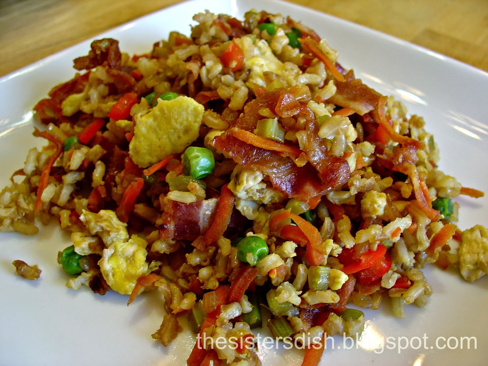 Bacon Fried Rice  The Sisters Dish Bacon Fried Rice