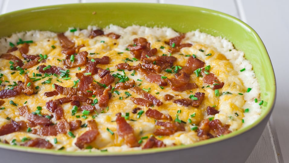 Bacon Mashed Potatoes  Cheesy Mashed Potatoes with Bacon and Chives Jo Cooks