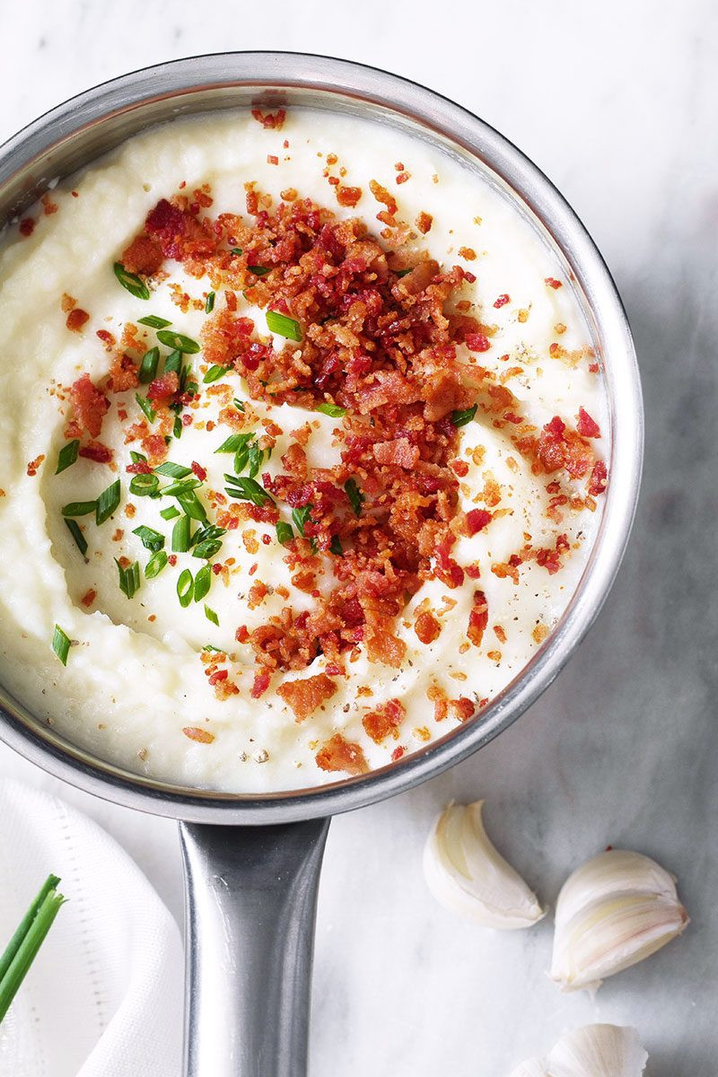 Bacon Mashed Potatoes  Mashed Potatoes With Bacon And Chives Recipe — Dishmaps