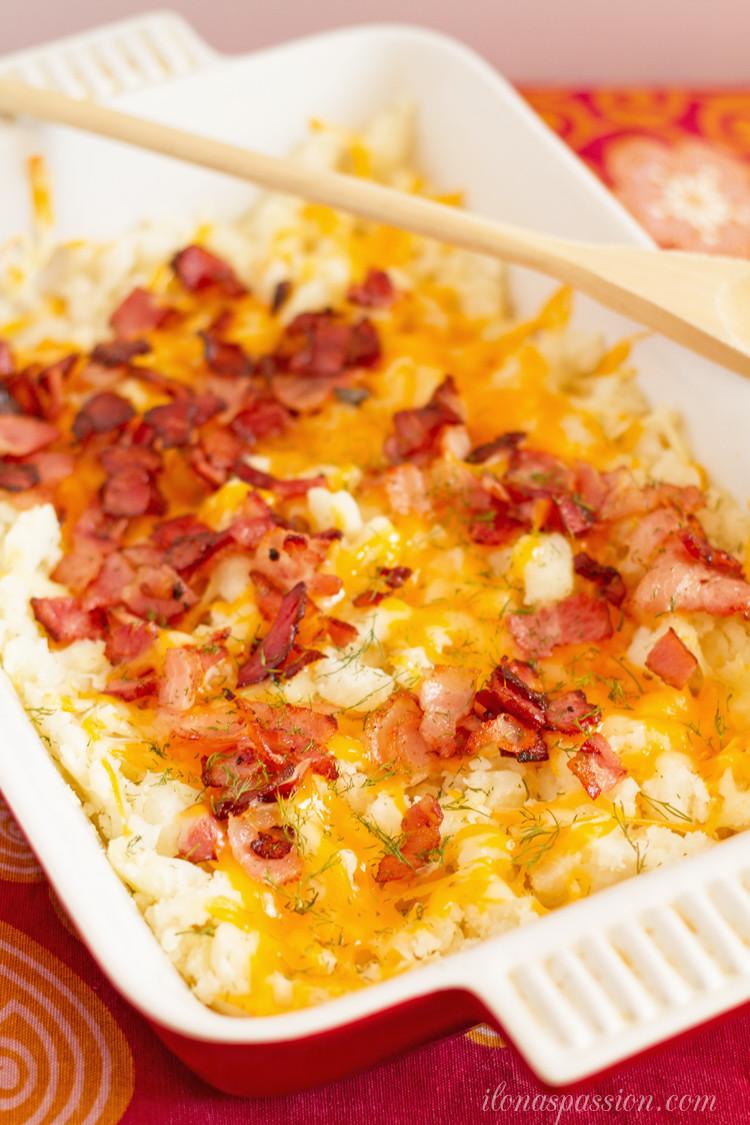 Bacon Mashed Potatoes  Cheesy Bacon Mashed Potato Casserole Oh My Creative