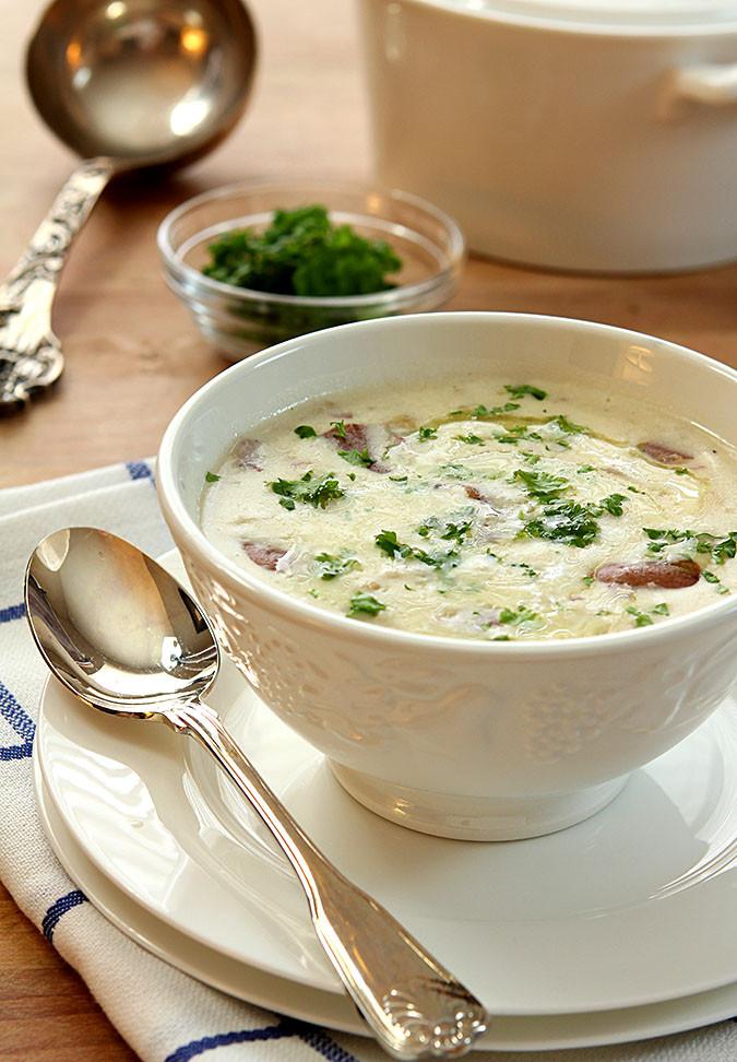 Bacon Potato Soup  cream of potato soup with bacon
