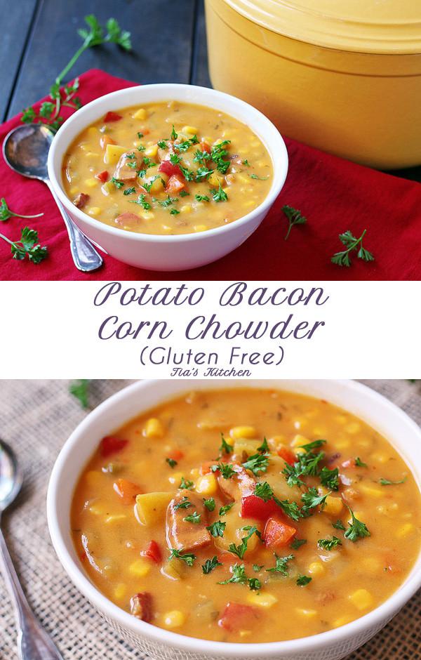 Bacon Potato Soup  hearty potato bacon and onion soup