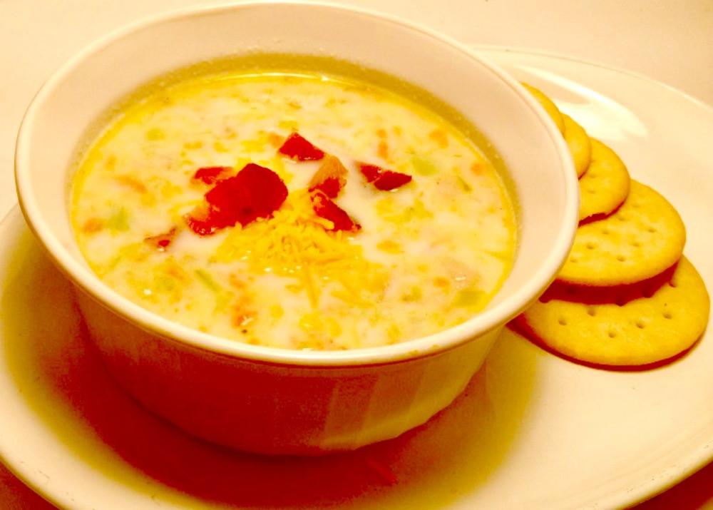 Bacon Potato Soup  Leek And Potato Soup With Bacon Recipe — Dishmaps