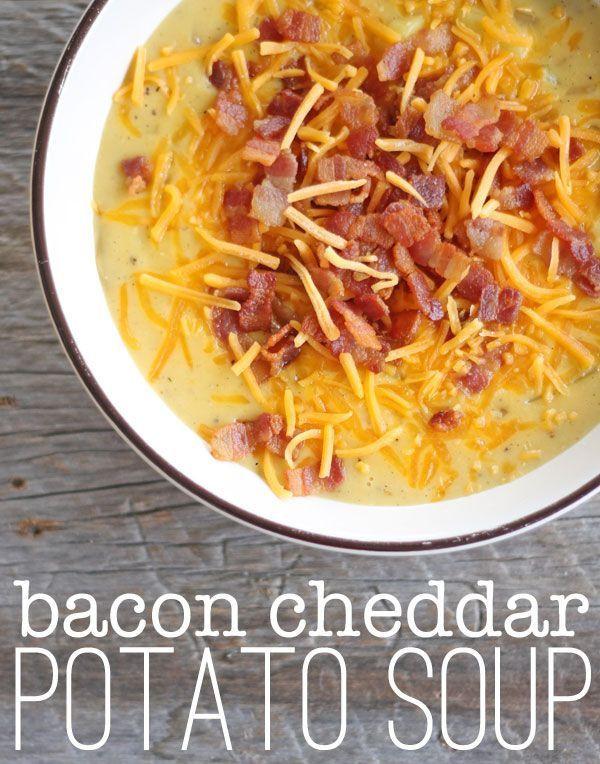 Bacon Potato Soup  Bacon Cheddar Potato Soup a 20 minute meal