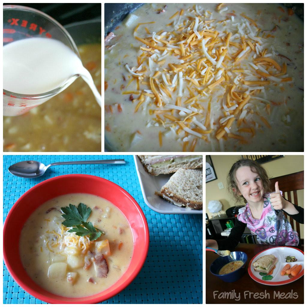 Bacon Potato Soup  Homemade Cheesy Bacon & Potato Soup Family Fresh Meals