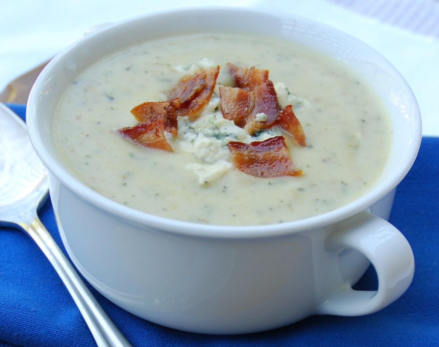 Bacon Potato Soup  Fleur De Lectable Blue Cheese Bacon and Potato Soup