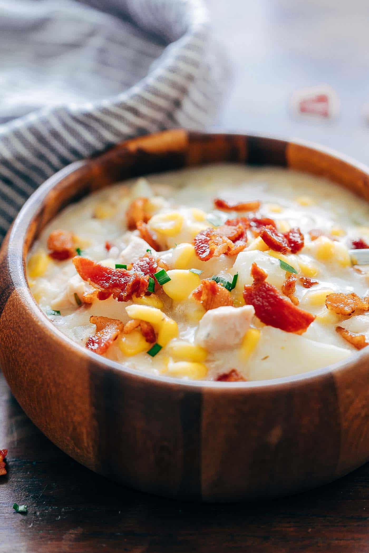Bacon Potato Soup  chicken potato bacon soup