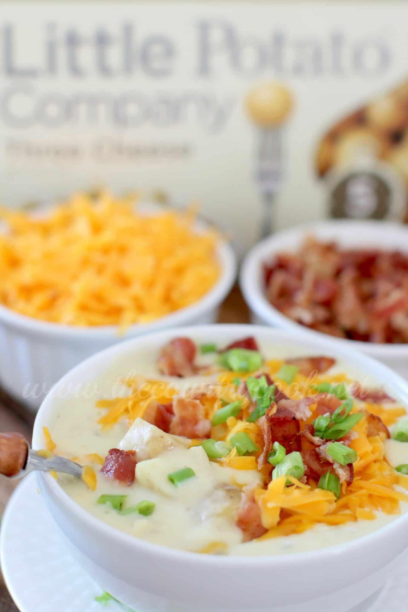 Bacon Potato Soup  Crockpot Cheddar Bacon Ranch Potato Soup The Country Cook