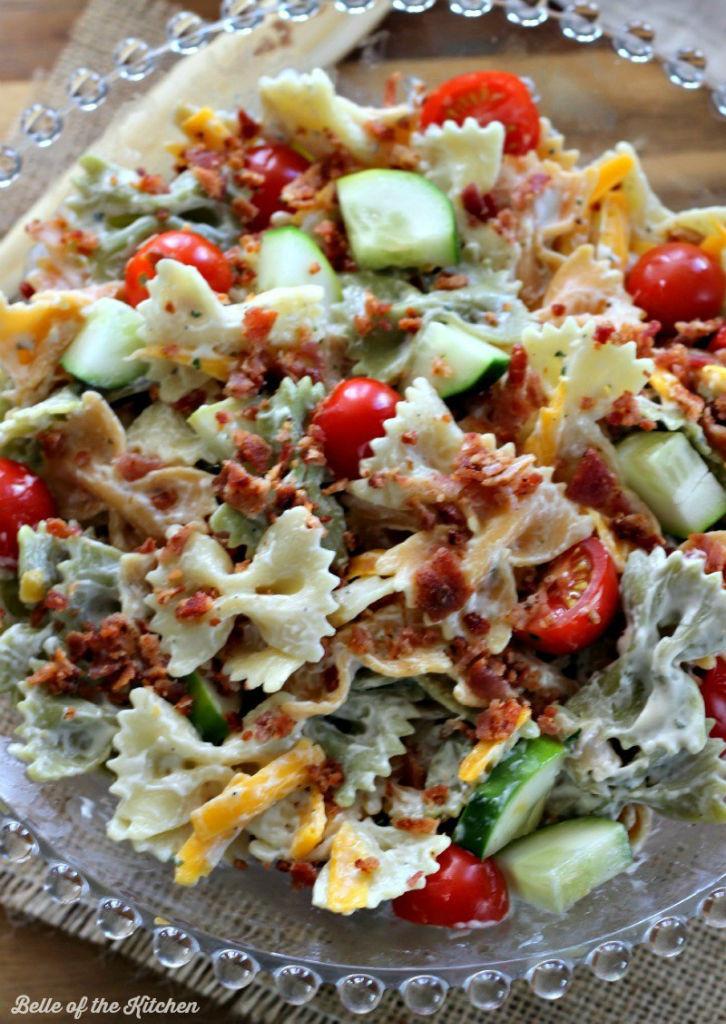 Bacon Ranch Pasta Salad  Bacon Ranch Pasta Salad Bloom Designs