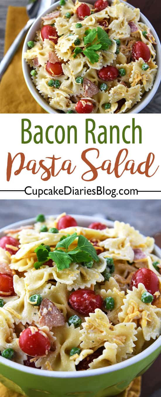 Bacon Ranch Pasta Salad  Bacon Ranch Pasta Salad