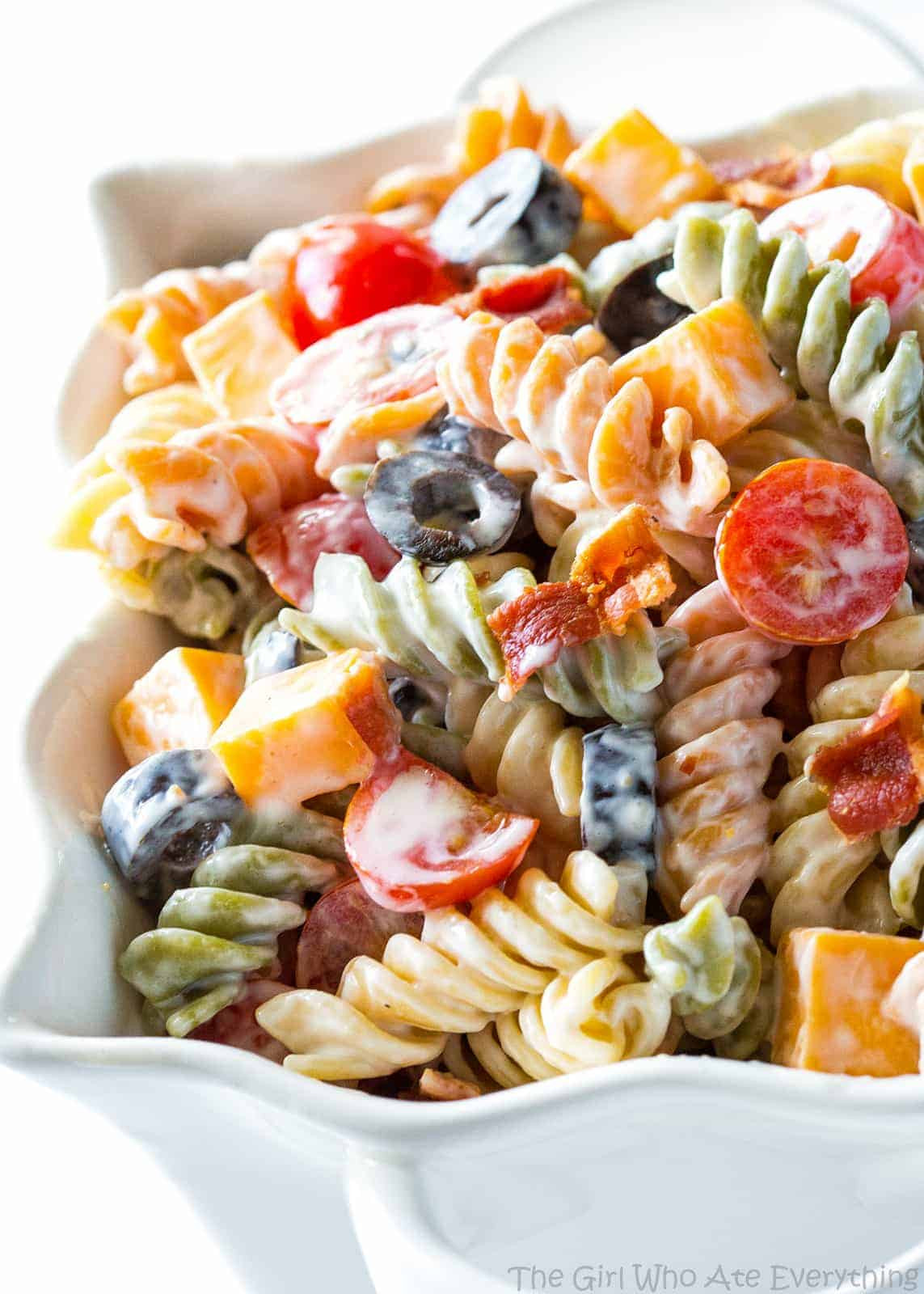 Bacon Ranch Pasta Salad  Bacon Ranch Pasta Salad The Girl Who Ate Everything