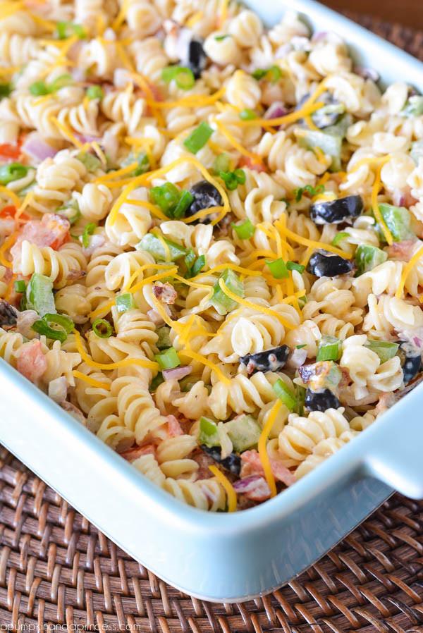 Bacon Ranch Pasta Salad  Top 10 Pasta Salad Recipes RecipePorn
