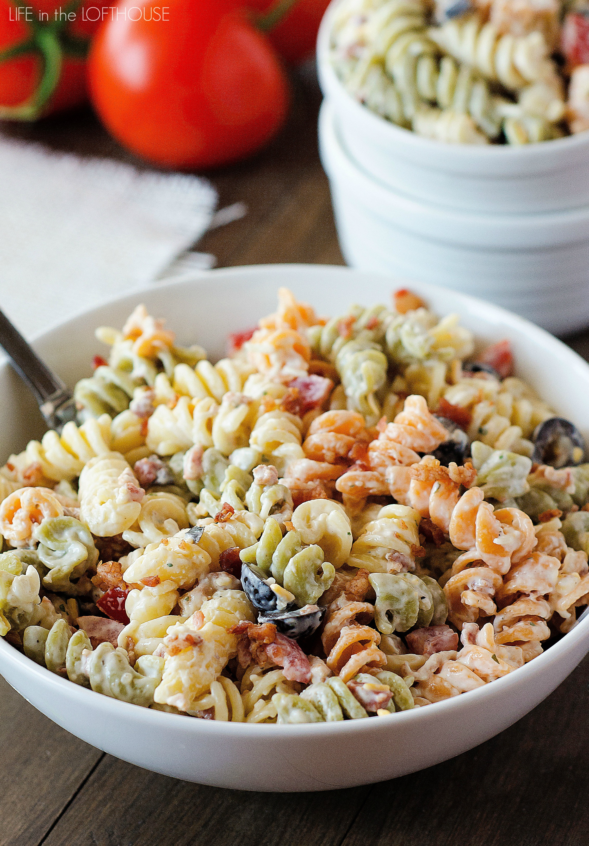 Bacon Ranch Pasta Salad  Bacon Ranch Pasta Salad Life In The Lofthouse