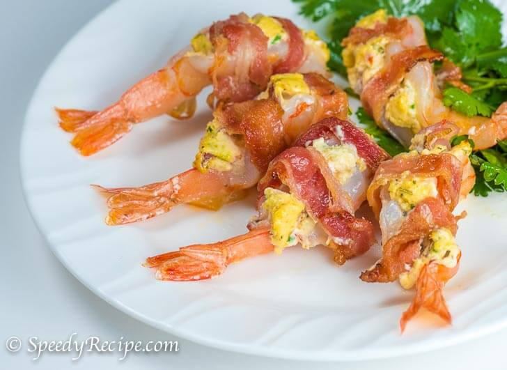 Bacon Wrapped Shrimp Appetizers  Bacon Wrapped Shrimp with Cream Cheese Stuffing