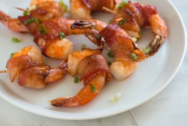 Bacon Wrapped Shrimp Appetizers  Spicy Maple Bacon Wrapped Shrimp Recipe