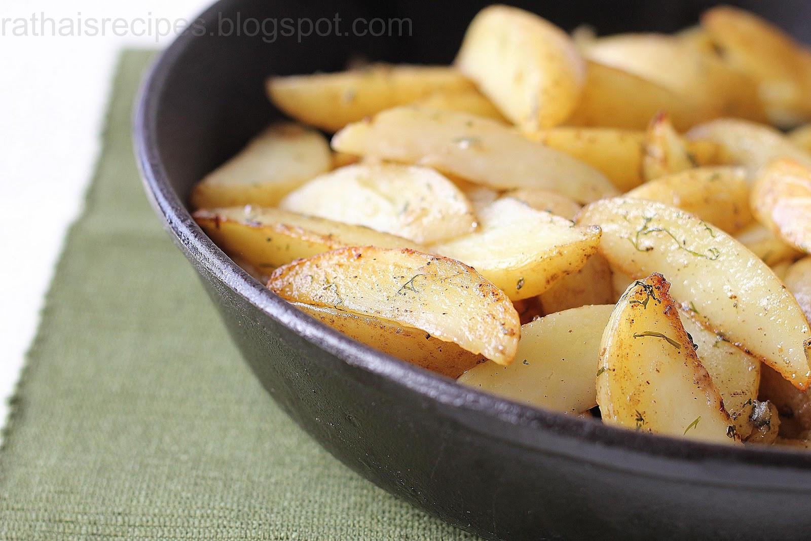 Bake A Potato In The Oven  Rathai s Recipes Oven baked potatoes Klyftpotatis
