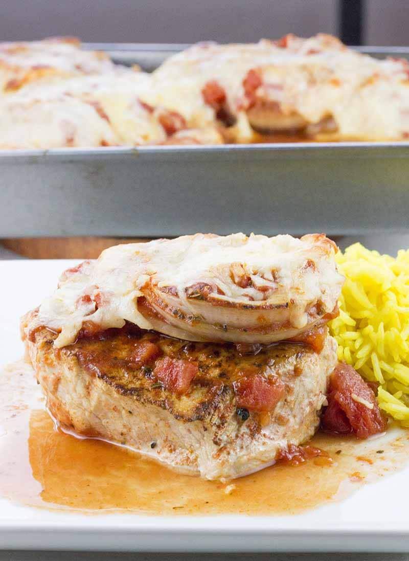 Bake Boneless Pork Chops  Baked Boneless Pork Chops in Tomato Sauce