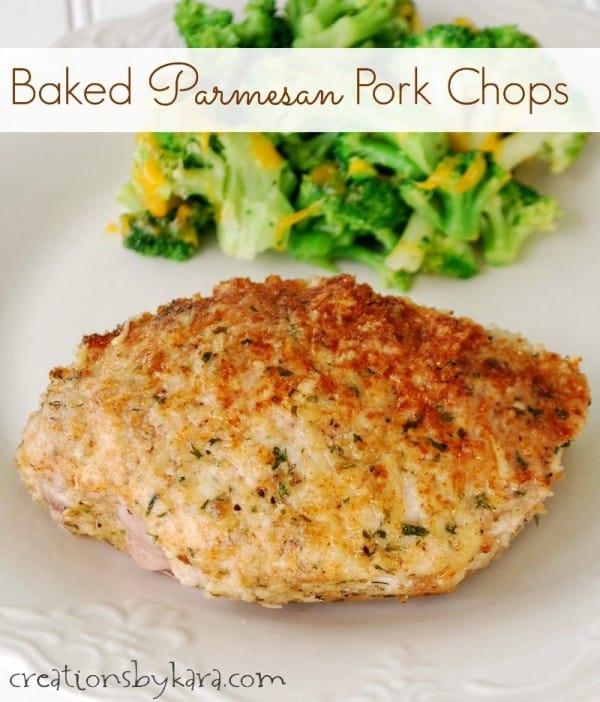 Bake Pork Chops  Parmesan crusted baked pork chops