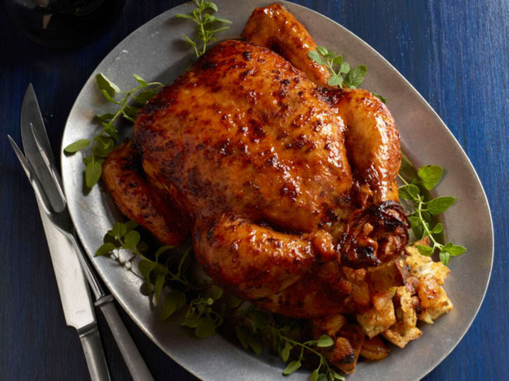 Bake Whole Chicken  stuffed roasted chicken recipe