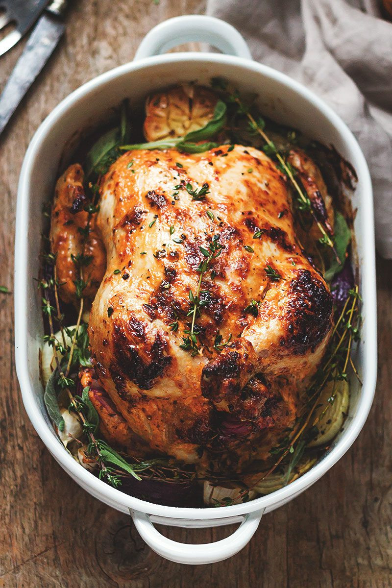 Bake Whole Chicken  Mayonnaise Roasted Whole Chicken Recipe — Eatwell101