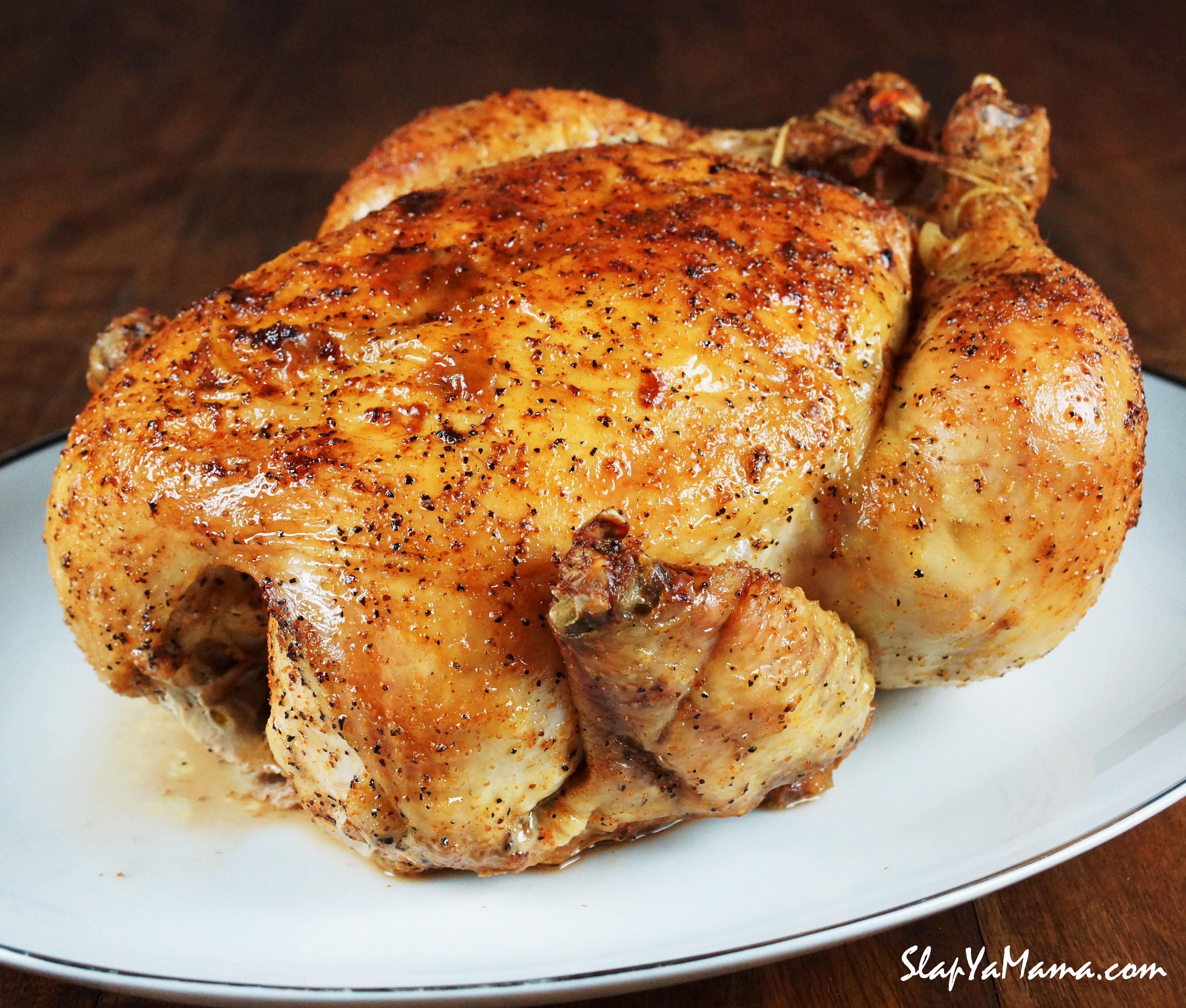 Bake Whole Chicken  Whole Baked Chicken Recipe Slap Ya Mama