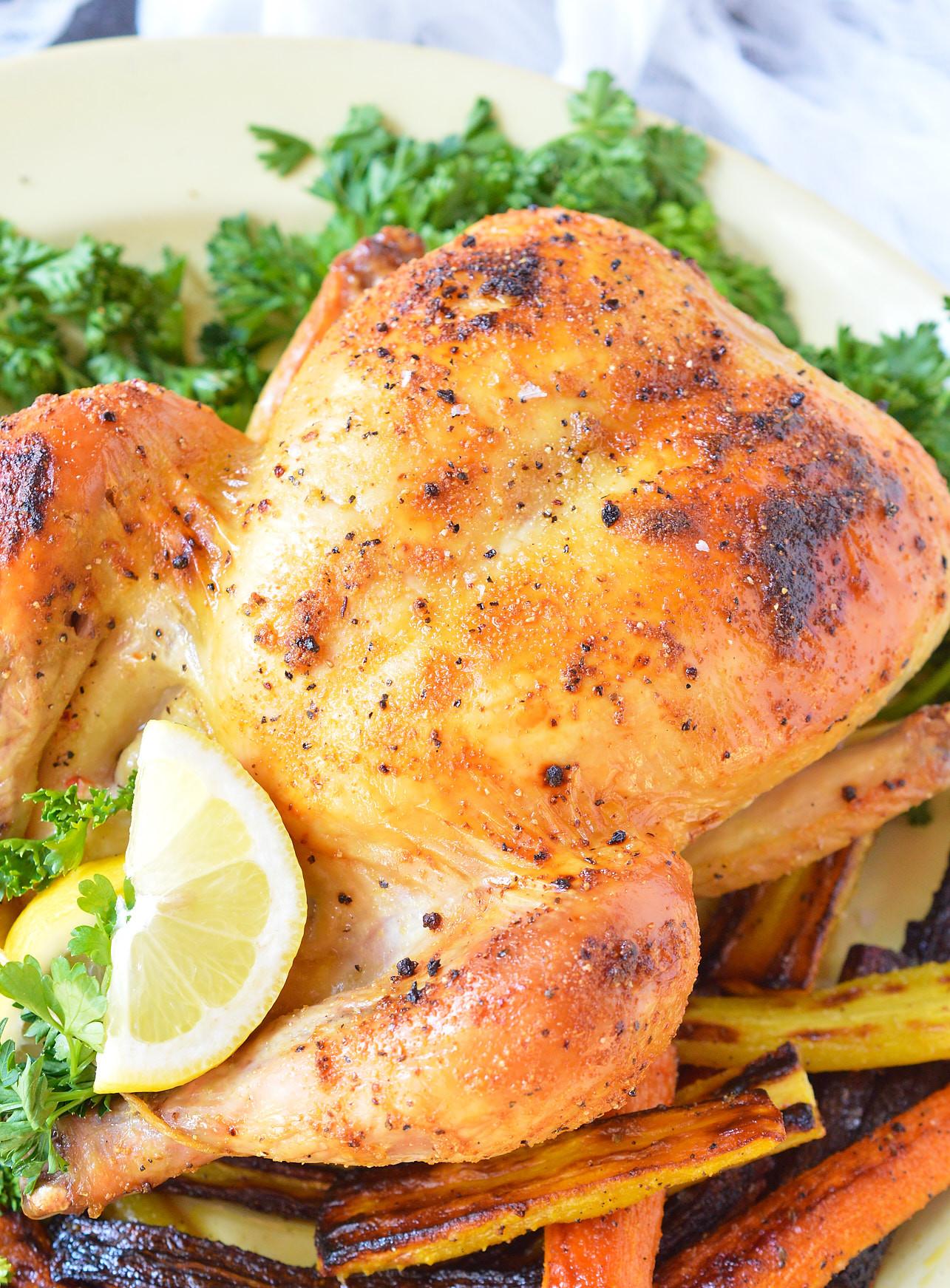 Bake Whole Chicken  Oven Roasted Whole Chicken WonkyWonderful