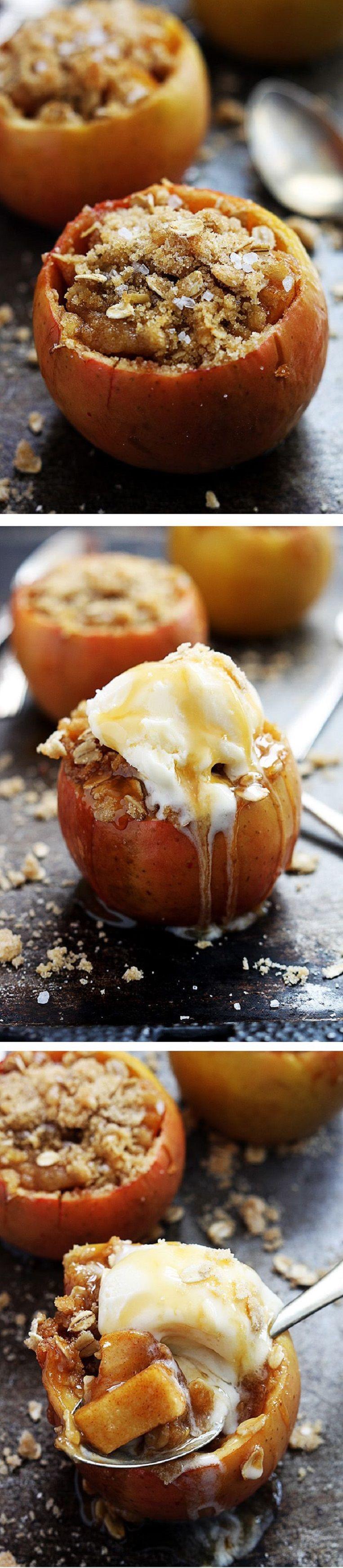 Baked Apples Dessert Recipe  Apple Crisp Stuffed Baked Apples s and