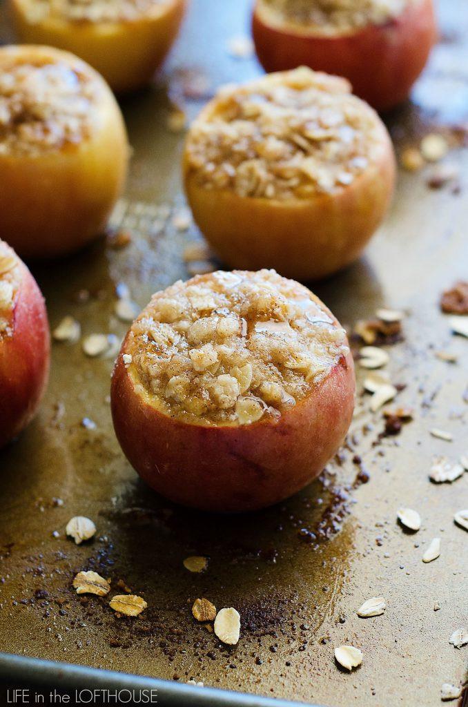 Baked Apples Dessert Recipe  Apple Crisp Stuffed Baked Apples