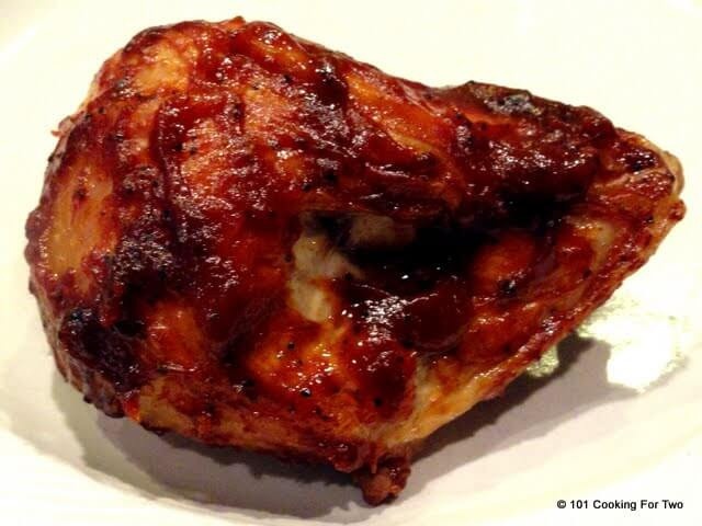 Baked Barbecue Chicken Breast  Simple Oven Baked BBQ Bone in Skin on Split Chicken