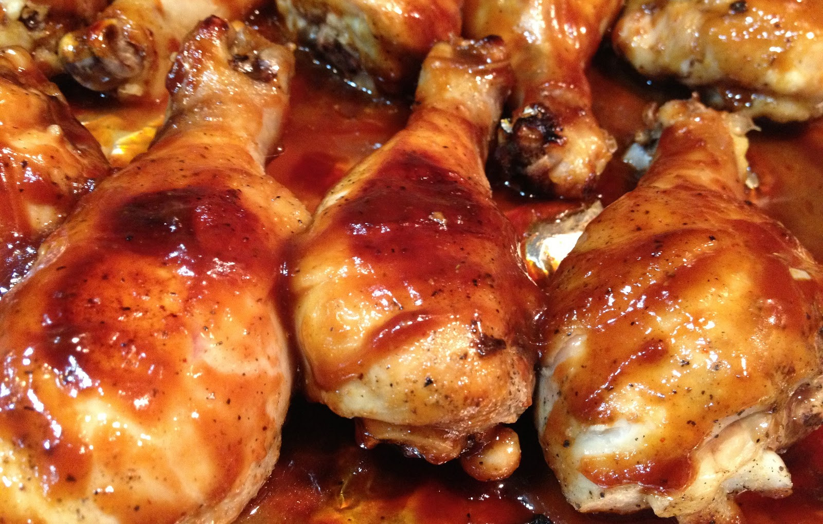 Baked Bbq Chicken Drumsticks  Gourmet Taste for the College Buds Baked BBQ Chicken