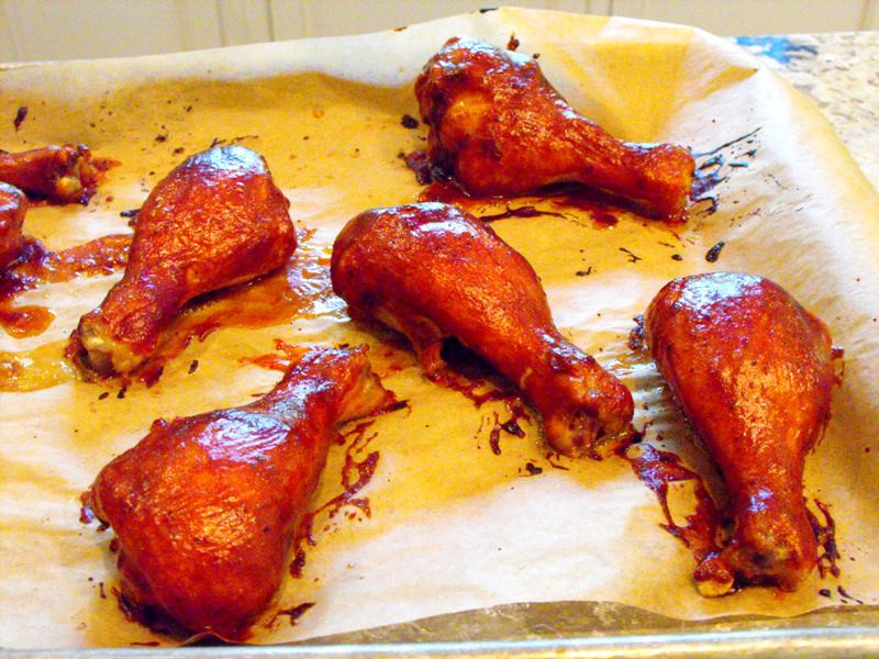 Baked Bbq Chicken Drumsticks  Baked BBQ Chicken Legs