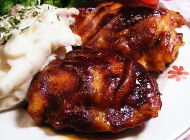 Baked Bbq Chicken Recipe  Kittencals Easy Oven Baked Barbecued Chicken Recipe Food