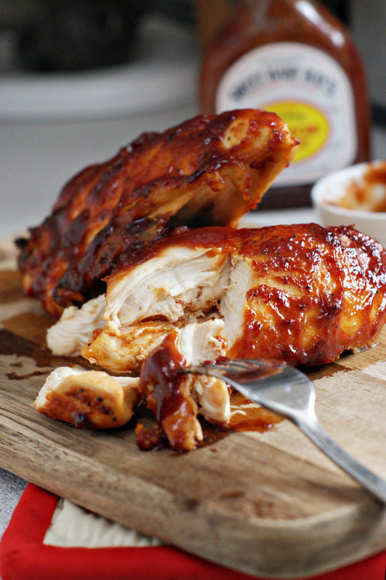 Baked Bbq Chicken Recipe  Super Moist Oven Baked BBQ Chicken