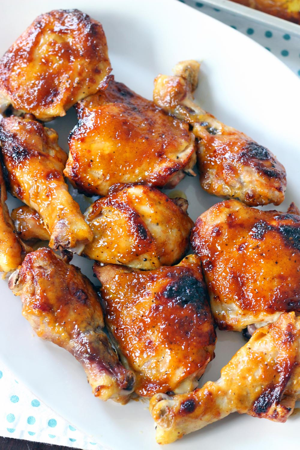 Baked Bbq Chicken Recipe  Two Ingre nt Crispy Oven Baked BBQ Chicken
