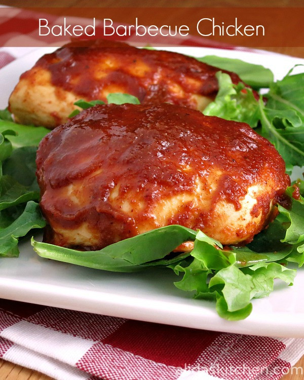 Baked Bbq Chicken Recipe  Baked Barbecue Chicken SundaySupper FamilyDinnerTable