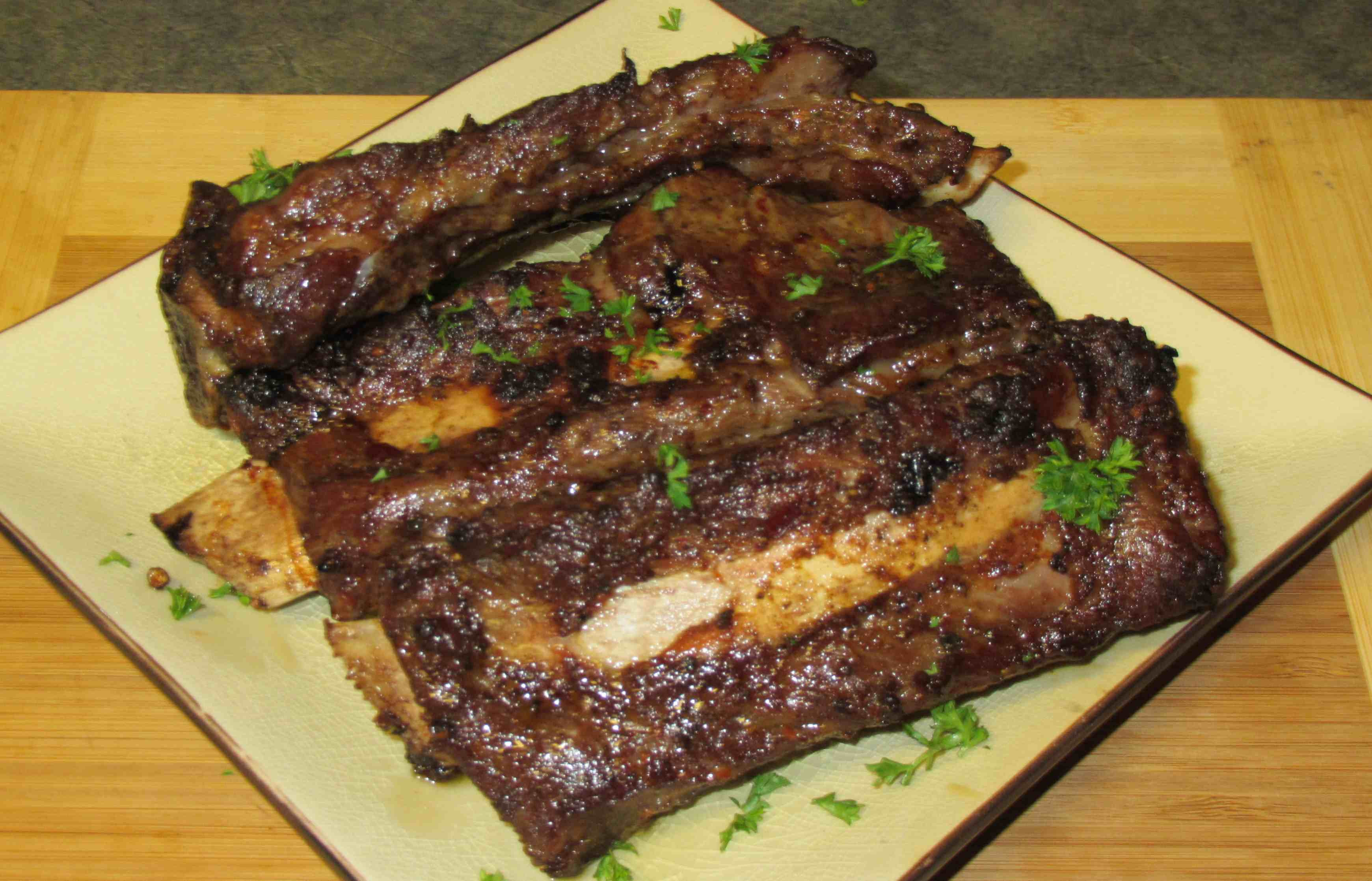 Baked Beef Ribs  Experiment Oven 'Barbecued' Beef Ribs – Sybaritica