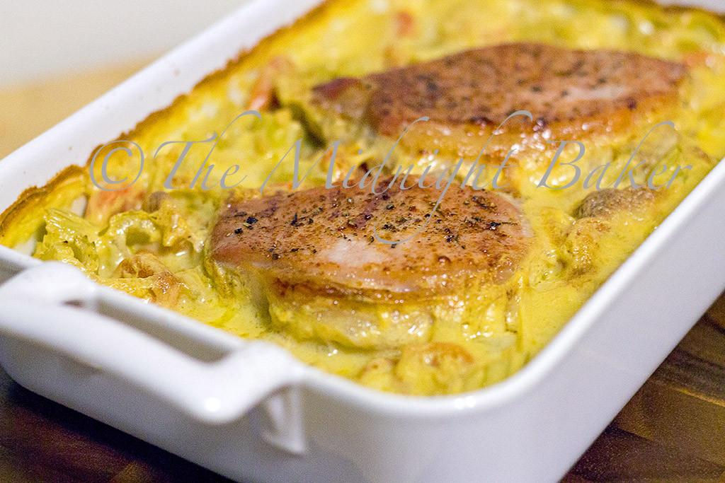 Baked Boneless Pork Chops With Cream Of Mushroom Soup  Baked Pork Chops on Rice The Midnight Baker