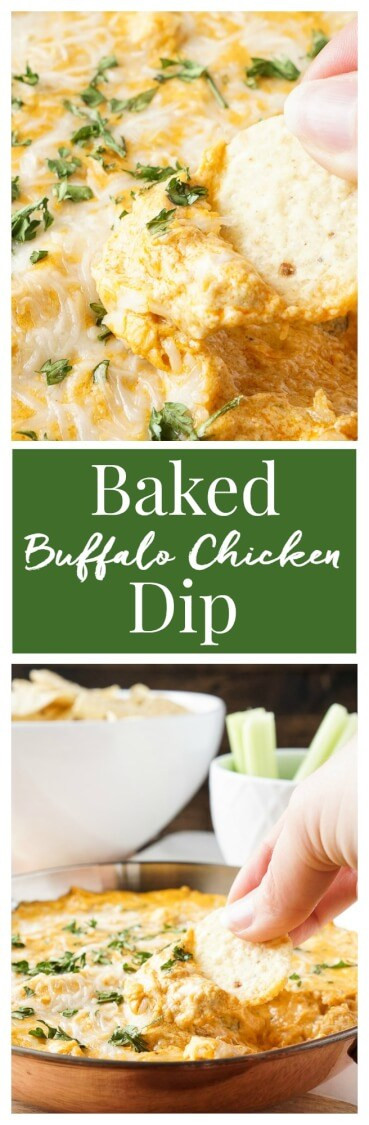 Baked Buffalo Chicken Dip  This Baked Buffalo Chicken Dip is made with real cream and