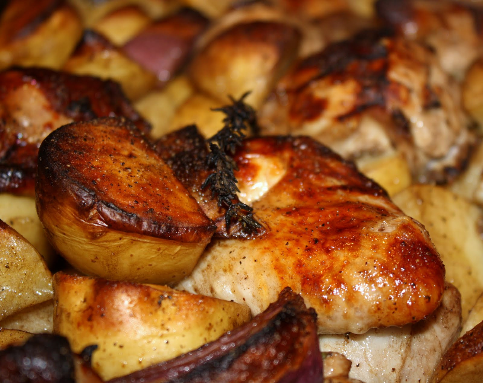 Baked Chicken And Potatoes  what s for dinner baked chicken and potatoes with onion