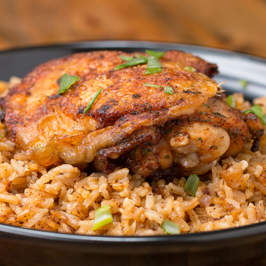 Baked Chicken And Rice Recipes  Paprika Chicken & Rice Bake Recipe by Tasty