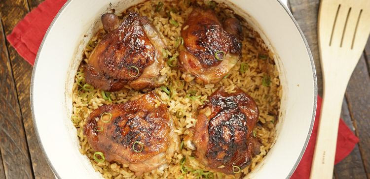 Baked Chicken And Rice Recipes  Honey Soy Chicken & Rice Bake Recipe & Video