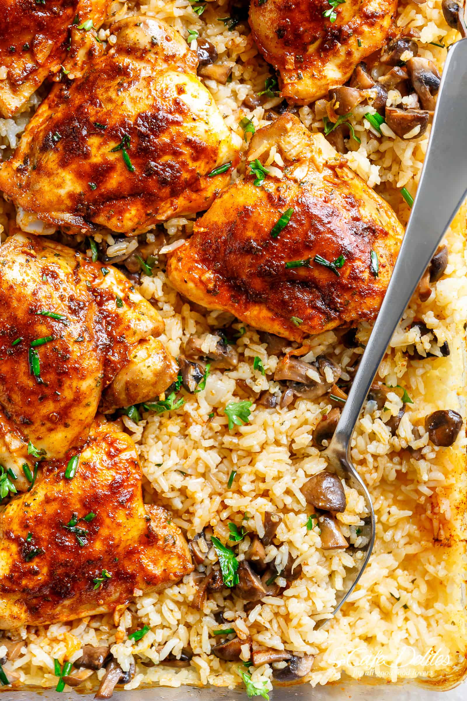 Baked Chicken And Rice Recipes  Oven Baked Chicken And Rice Cafe Delites