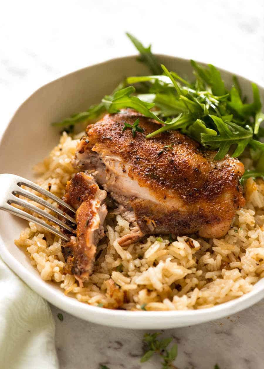 Baked Chicken And Rice Recipes  Oven Baked Chicken and Rice