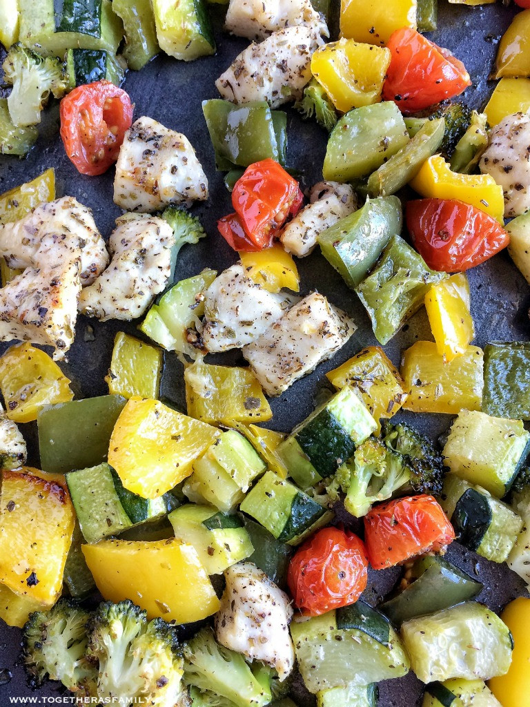 Baked Chicken And Vegetables  Oven Roasted Chicken and Ve ables To her as Family
